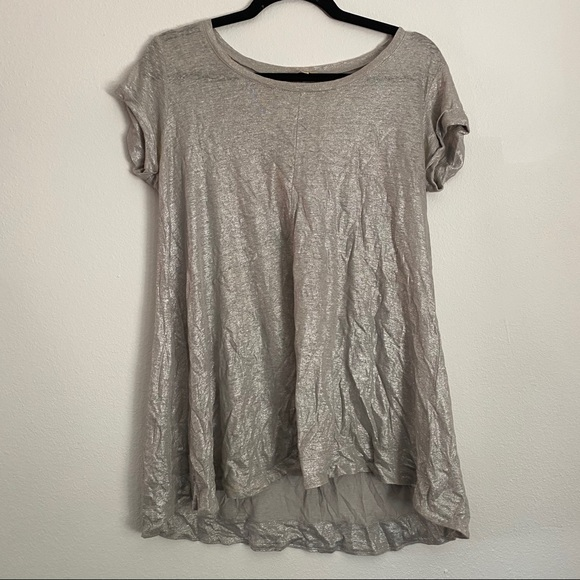 Silver Anthropologie Top